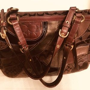 Coach Chocolate Patchwork Purse